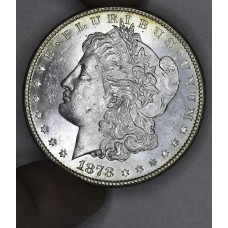 $1 One Dollar 1878 S MS63 bright gold tone