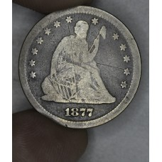 25 Cent Quarter 1876 S VG10 two OBV hairline scratches