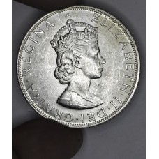 Bermuda 1 Crown 1964 BU silver KM#14 brilliant