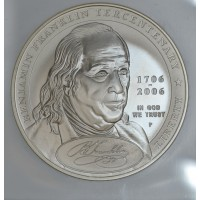 $1 One Dollar 2006 P Benjamin Franklin-Founding Father MS69 NGC luminous