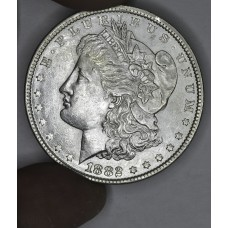 $1 One Dollar 1882 P AU58 lt gld tn tons of luster
