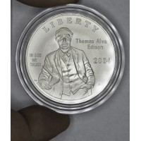 $1 One Dollar 2004 P Edison MS68 cap no box/coa