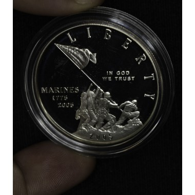$1 One Dollar 2005 P Marine Corps PR68 cap no box/coa