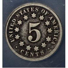 5c Nickel 1869 G4 Details NCS Corroded ltly so