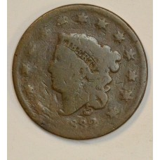 1c One Cent Penny 1832 G4 Large Letters cpl contact mrks on obv