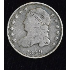 10c Cent Dime 1829 VG10 Small 10c gold gray tone