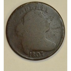 1c One Cent Penny 1807 G4 Small Fraction rich original chocolate tone