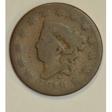 1c One Cent Penny 1818 AG3 caramel tone popular type