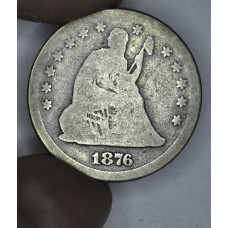 25c Cent Quarter 1876 G4 VG obv; AG rev