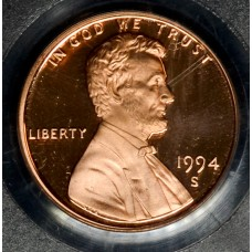 1c One Cent Penny 1994 S PR69 DCAM PCGS bright red