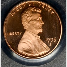 1c One Cent Penny 1995 S PR69 RD-DCAM PCGS bright red