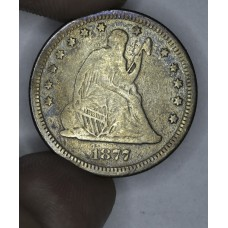 25c Cent Quarter 1877 S F12 some even tones