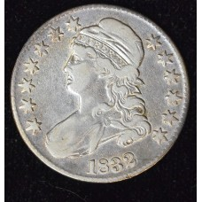 50c Cent 1/2 Half Dollar 1832 VF20 light cleaning