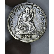 25c Cent Quarter 1856 VF30 dark grey toning