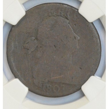 1c One Cent Penny 1807 FR2 BN NGC nice over all quality