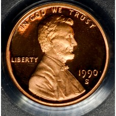 1c One Cent Penny 1990 S PR69 DCAM PCGS bright mint red