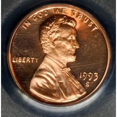 1c One Cent Penny 1993 S PR69 RD-DCAM PCGS bright mint red