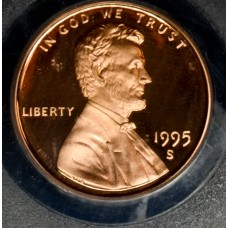 1c One Cent Penny 1995 S PR69 RD-DCAM PCGS vibrant mint red