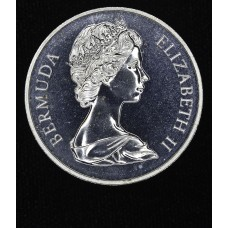 Bermuda $1 Dollar 1972 Proof silver crown KM#22a brilliant