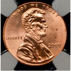 1c One Cent Penny 2009 MS66 RD NGC Formative Yrs brllnt