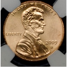 1c One Cent Penny 2009 D MS68-SMS RD NGC Prof Life