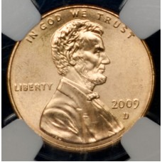 1c One Cent Penny 2009 D MS68-SMS RD NGC Presidency