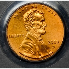 1c One Cent Penny 2009 D MS68 RD Satin Finish PCGS Early Chldhd