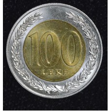 Albania 50 Qindarka 1996 MS63 bi-metallic KM#80 bright