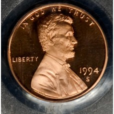 1c One Cent Penny 1994 S PR68 DCAM PCGS bright mint red