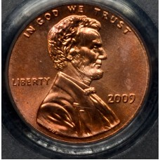 1c One Cent Penny 2009 MS65 RD PCGS Presidency rich red