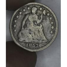 1/2 Half Dime H10C 1857 G4 even original grey toning