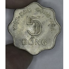 South Vietnam 5 Dong 1966 MS63 CN KM#9 lt gld tn lstr