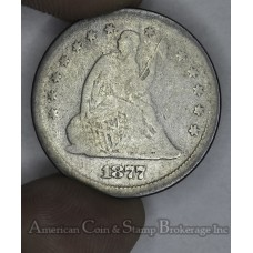 25c Cent Quarter 1877 S G4 even light grey choice