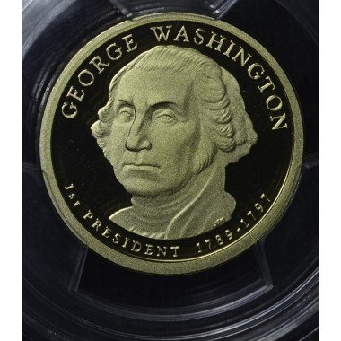 $1 One Dollar 2007 S Pres. PR70 DCAM G. Washington PCGS