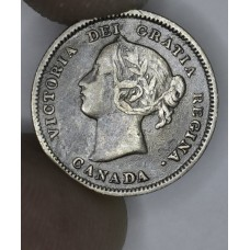 Canada 5c Cents Nickel 1900 EF45 silver KM#2 Oval 0s