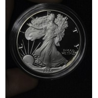 $1 One Dollar 1986 S Eagle Proof DCAM in cap no box/coa