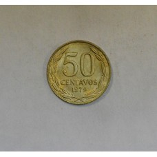 Chile 50 Centavos 1979 MS64 aluminum-bronze KM#206a frsty