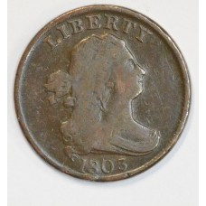 1/2c Half Cent Penny 1803 F12 full face choice hair full rims