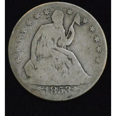 50c Cent 1/2 Half Dollar 1853 O G6 most would call VG; even grey
