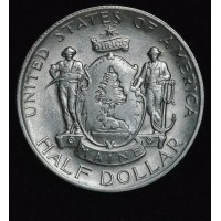 50c Cent 1/2 Half Dollar 1920 Maine AU58 frosty white slider