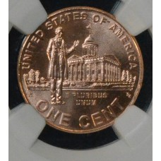 1c One Cent Penny 2009 BU RD NGC Professional Life