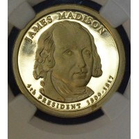 $1 One Dollar 2007 S Pres. PR69 UCAM J. Madison NGC gem