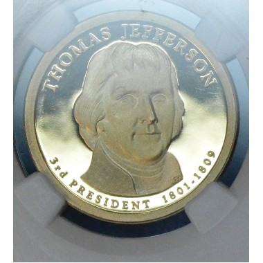 $1 One Dollar 2007 S Pres. PR69 UCAM T. Jefferson NGC gem