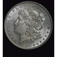 $1 One Dollar 1878 P AU55 7TF Rev. of 1879 blast frosty white