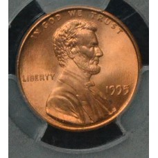1c One Cent Penny 1995 MS66 RD Double Die Obv. PCGS FS#101