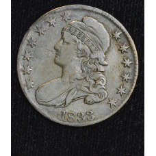 50c Cent 1/2 Half Dollar 1833 VF20 rich golden gray tone