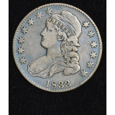 50c Cent 1/2 Half Dollar 1833 VF30 light clean long ago