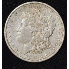 $1 One Dollar 1880 O EF45 lustrous even gold grey