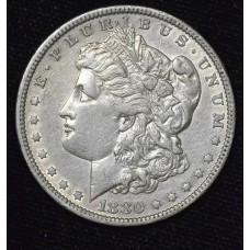 $1 One Dollar 1880 O AU53 lustrous even grey