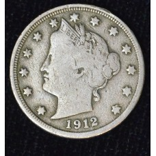 5c Nickel Five Cents 1912 S F15 keydate choice